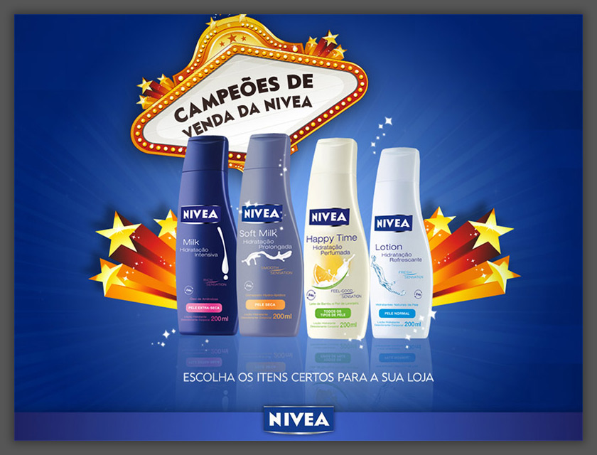 Apresentação linha de produtos NIVEA