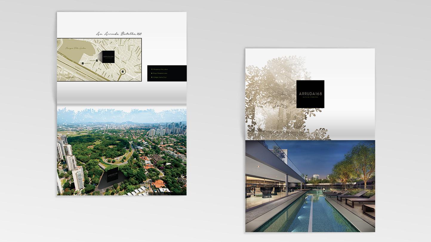 Material de venda do empreendimento Arruda Botelho 168