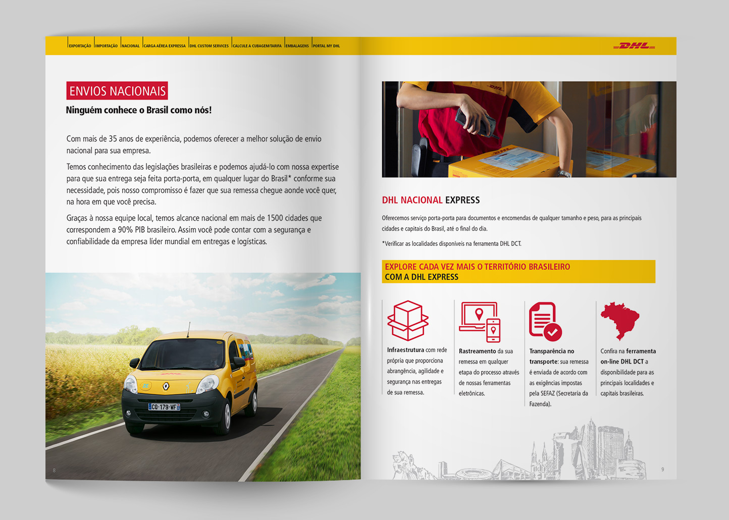 Portfolio de Produtos DHL (Catálogo)