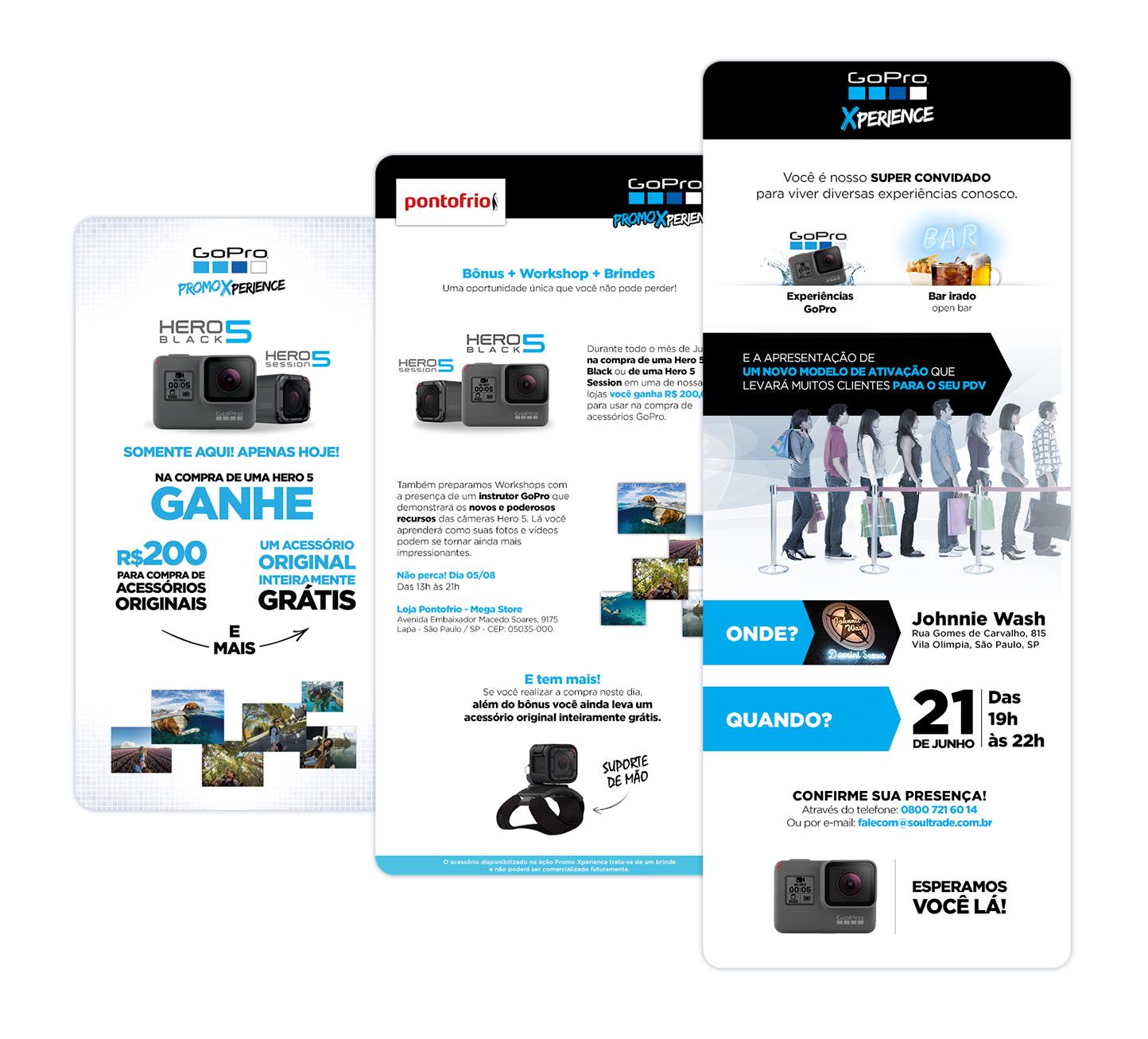 Campanhas de lançamento e ativação GoPro